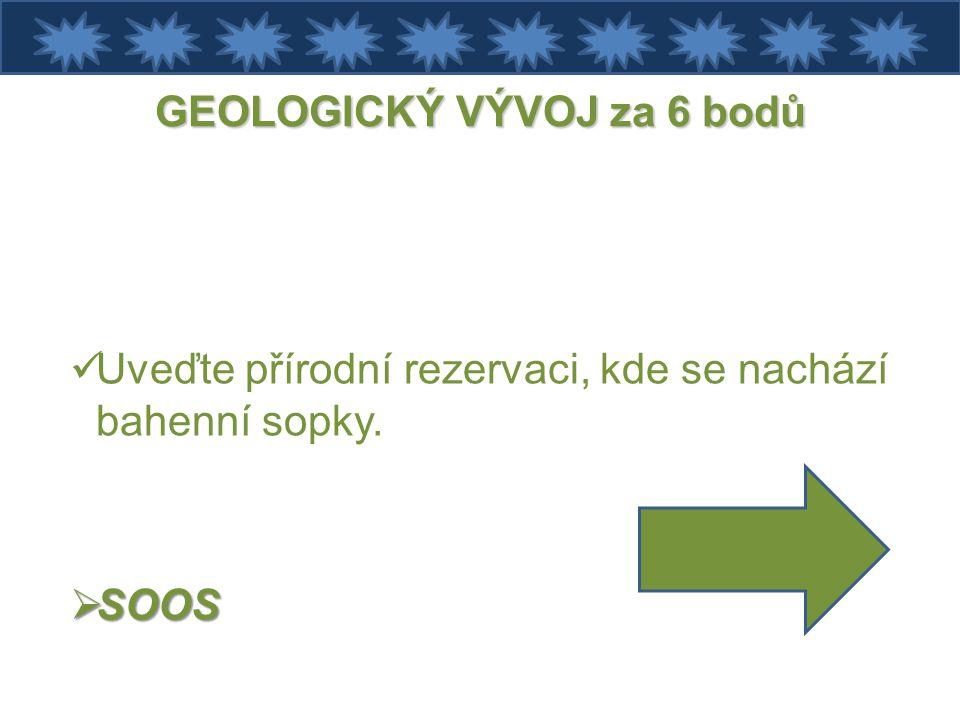GEOLOGICKÝ VÝVOJ za 6 bodů