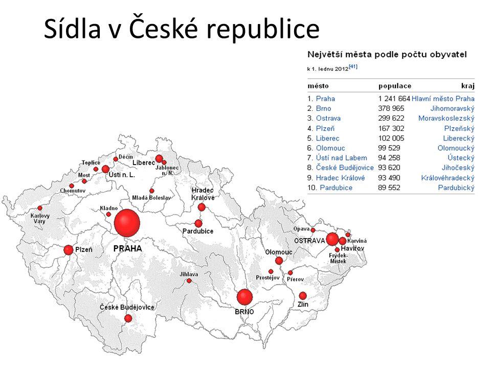 Sídla v České republice