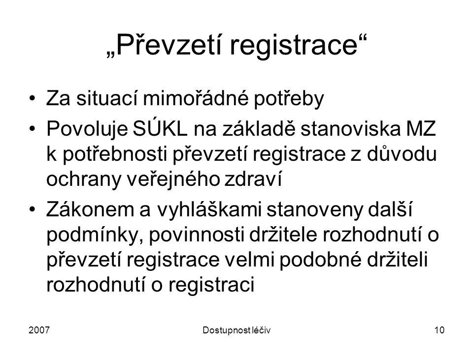 """""""Převzetí registrace"""