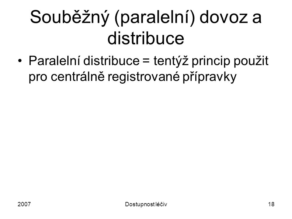Souběžný (paralelní) dovoz a distribuce