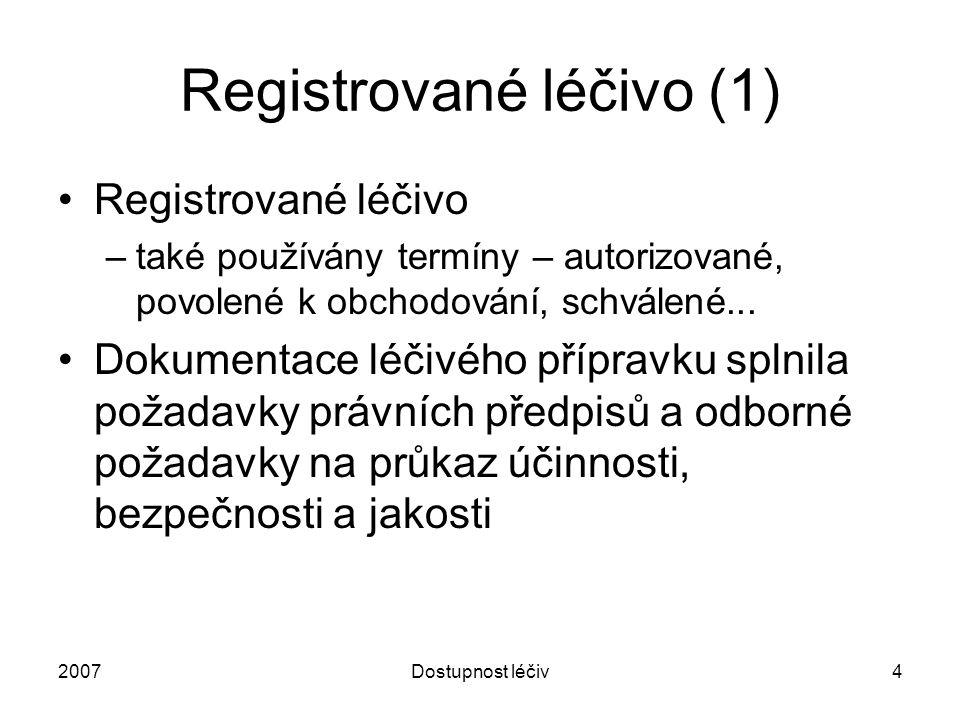 Registrované léčivo (1)