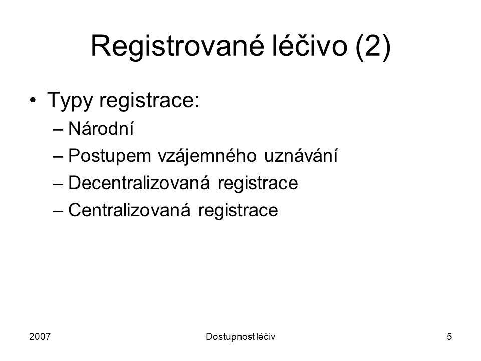 Registrované léčivo (2)