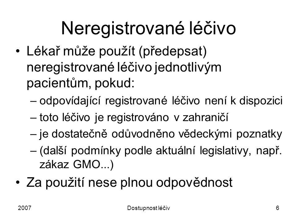 Neregistrované léčivo