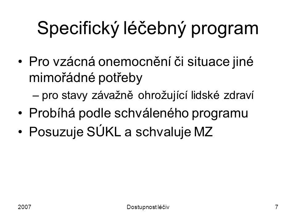 Specifický léčebný program