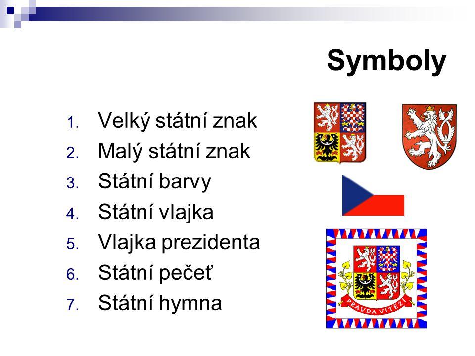 Symboly Velký státní znak Malý státní znak Státní barvy Státní vlajka