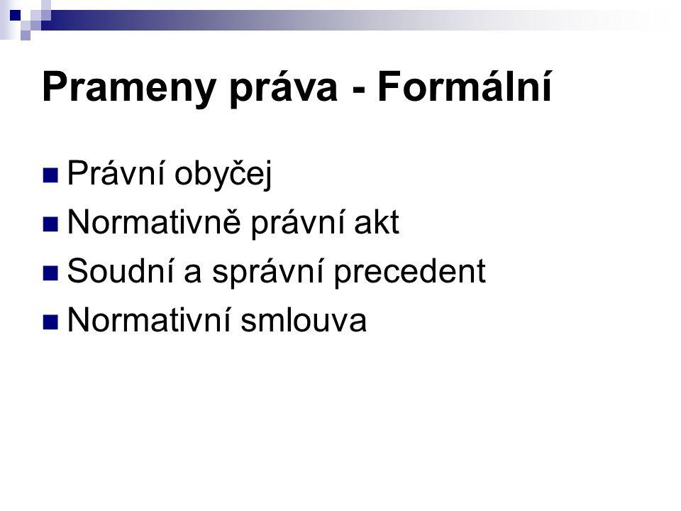 Prameny práva - Formální