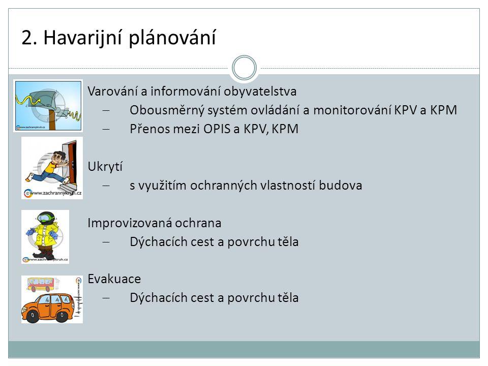 2. Havarijní plánování Varování a informování obyvatelstva
