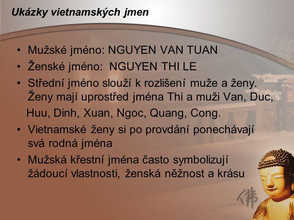 Ukázky vietnamských jmen