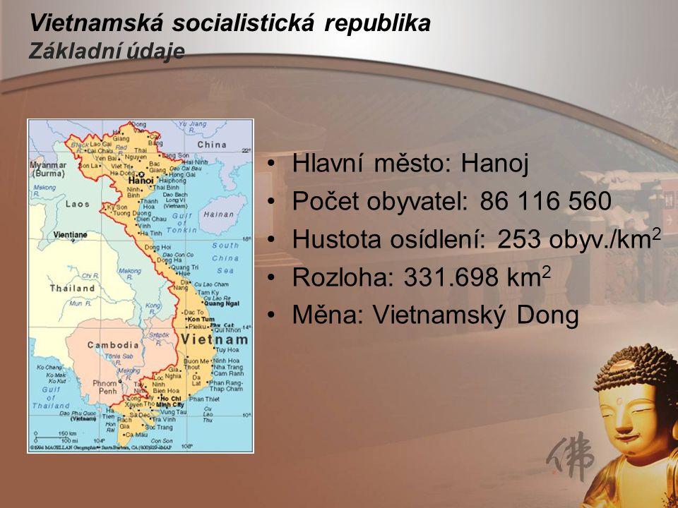 Vietnamská socialistická republika Základní údaje
