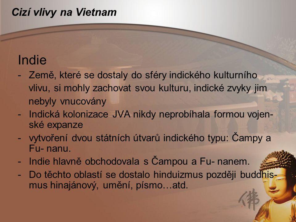Indie Cizí vlivy na Vietnam