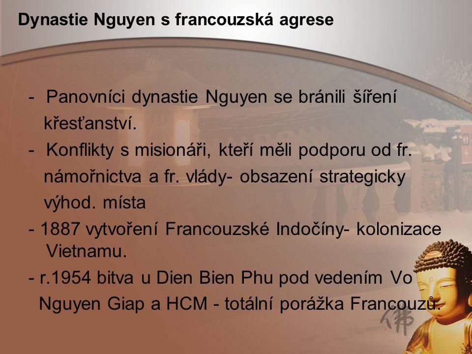 Dynastie Nguyen s francouzská agrese