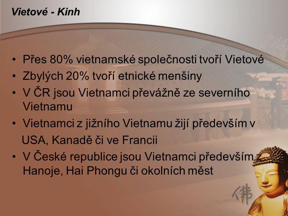Přes 80% vietnamské společnosti tvoří Vietové