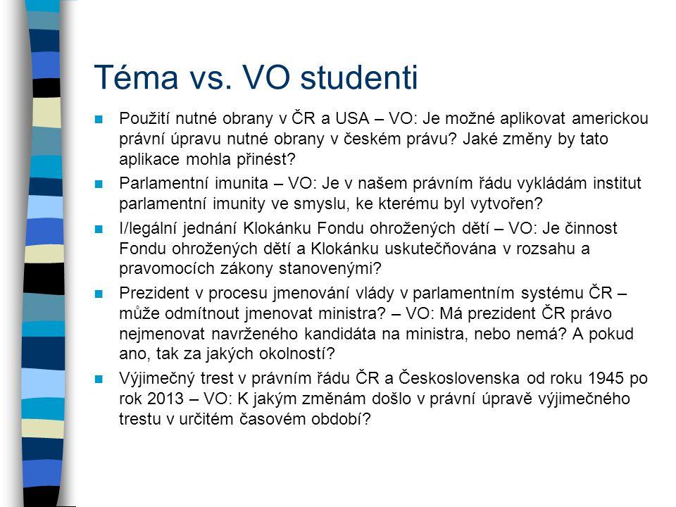 Téma vs. VO studenti