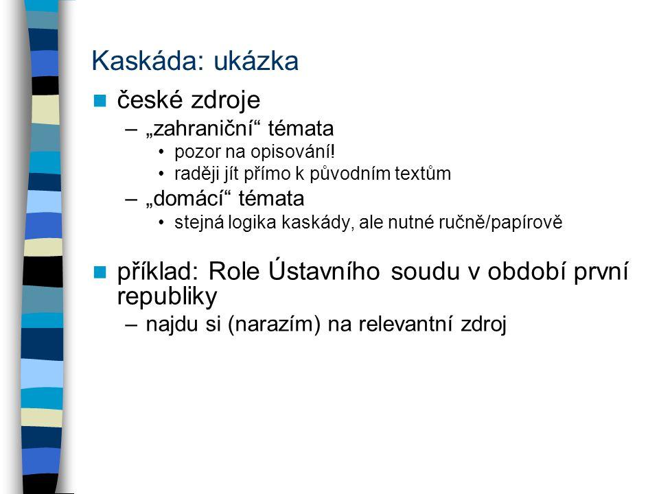 Kaskáda: ukázka české zdroje