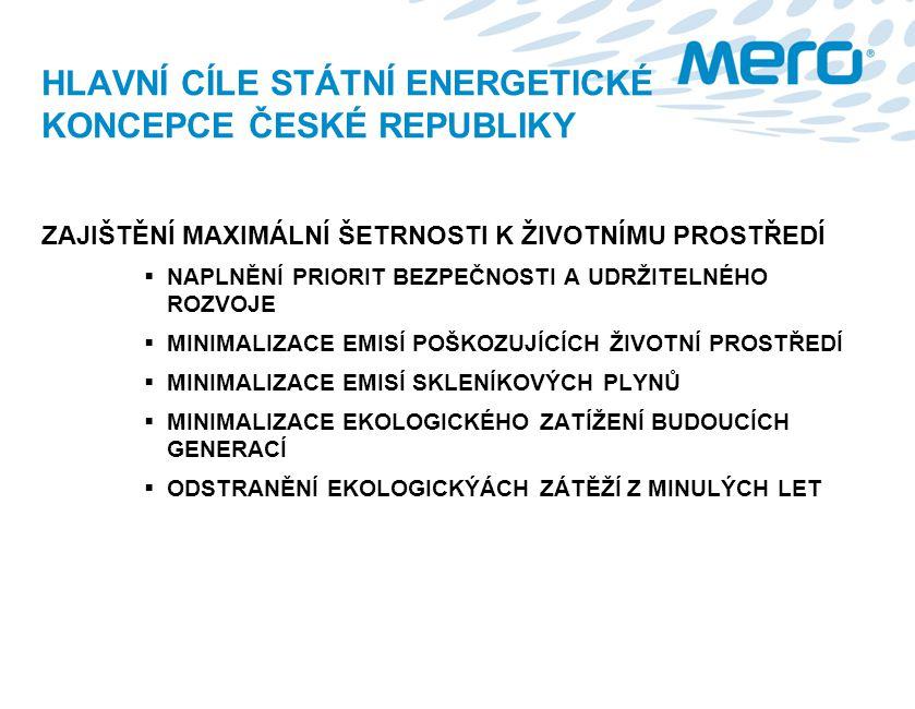 HLAVNÍ CÍLE STÁTNÍ ENERGETICKÉ KONCEPCE ČESKÉ REPUBLIKY