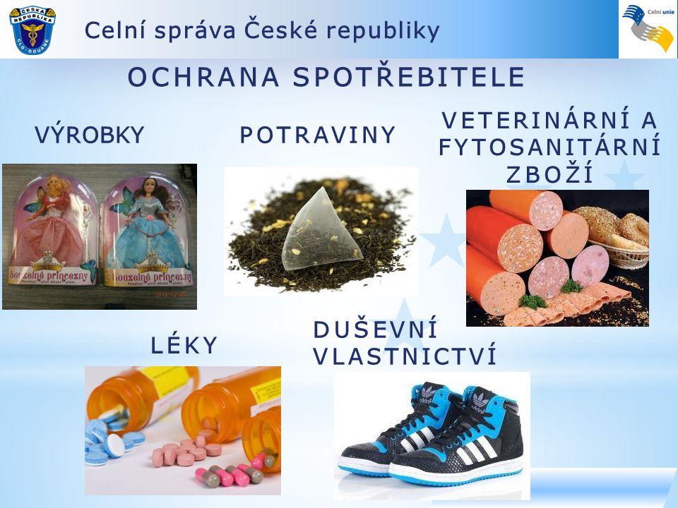OCHRANA SPOTŘEBITELE Celní správa České republiky VETERINÁRNÍ A