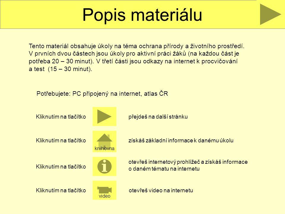 Popis materiálu
