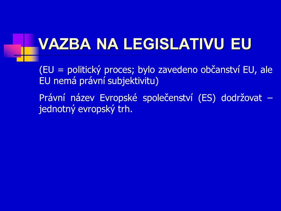 VAZBA NA LEGISLATIVU EU