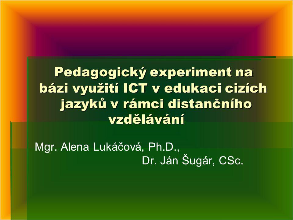 Mgr. Alena Lukáčová, Ph.D., Dr. Ján Šugár, CSc.