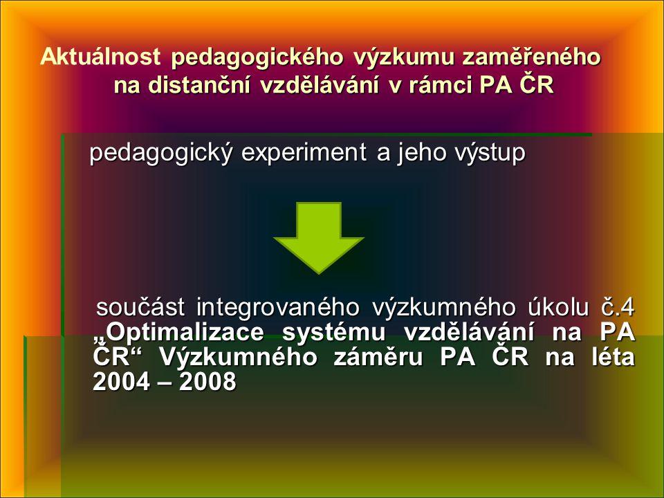 pedagogický experiment a jeho výstup