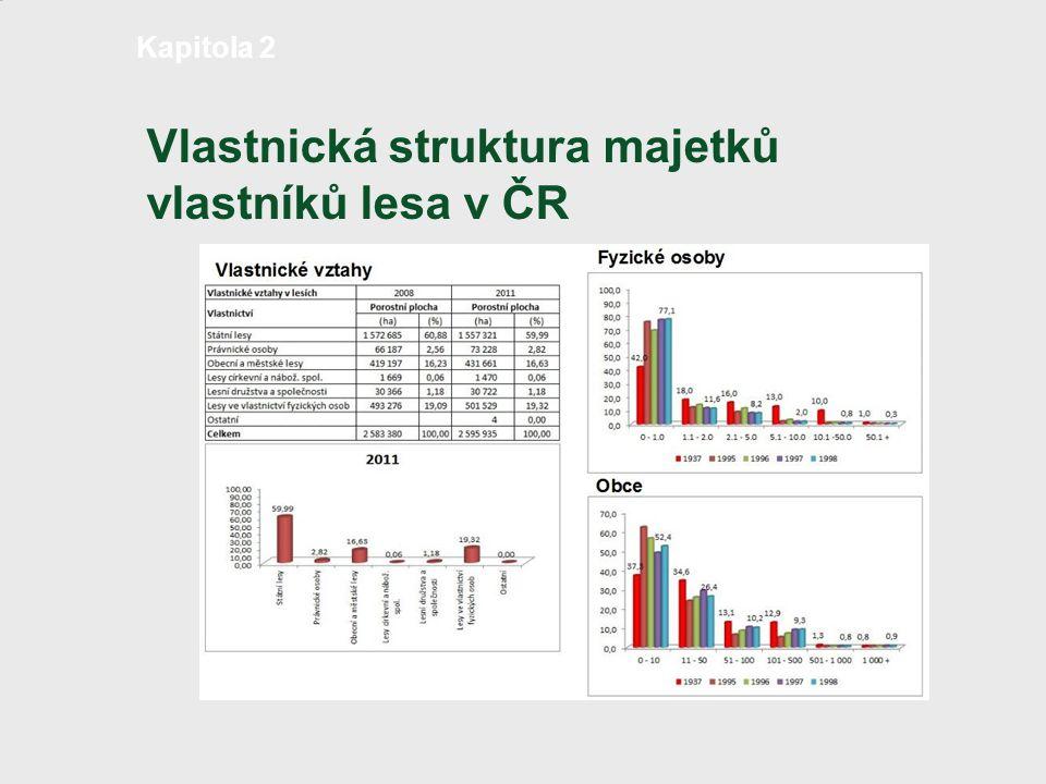 Vlastnická struktura majetků vlastníků lesa v ČR