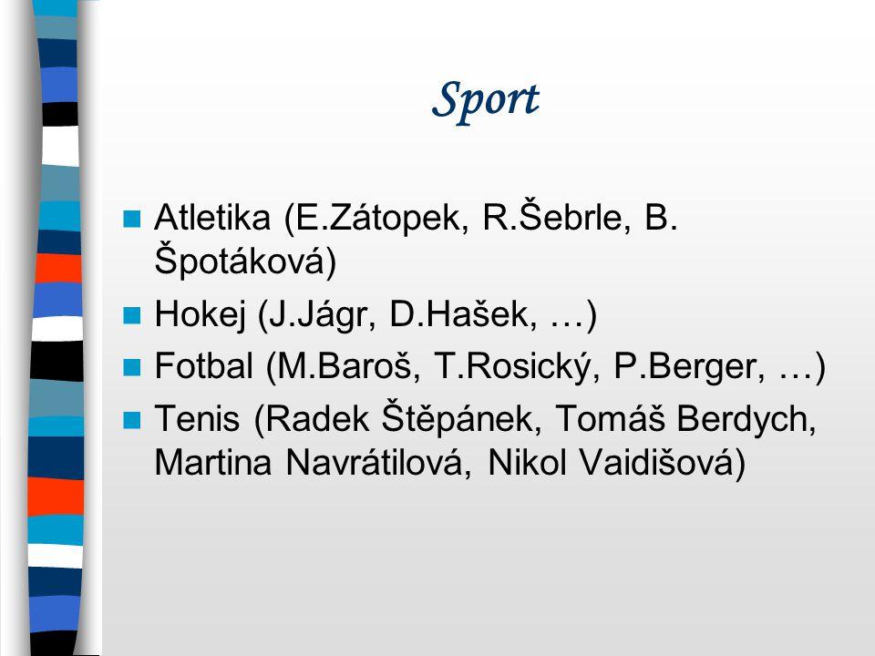 Sport Atletika (E.Zátopek, R.Šebrle, B. Špotáková)