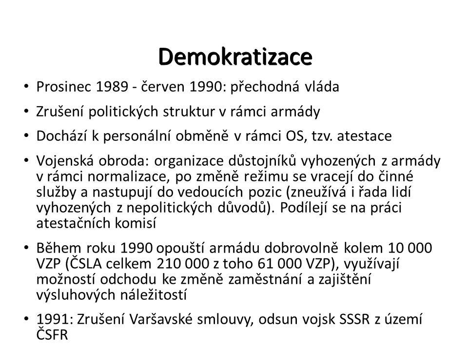 Demokratizace Prosinec 1989 - červen 1990: přechodná vláda