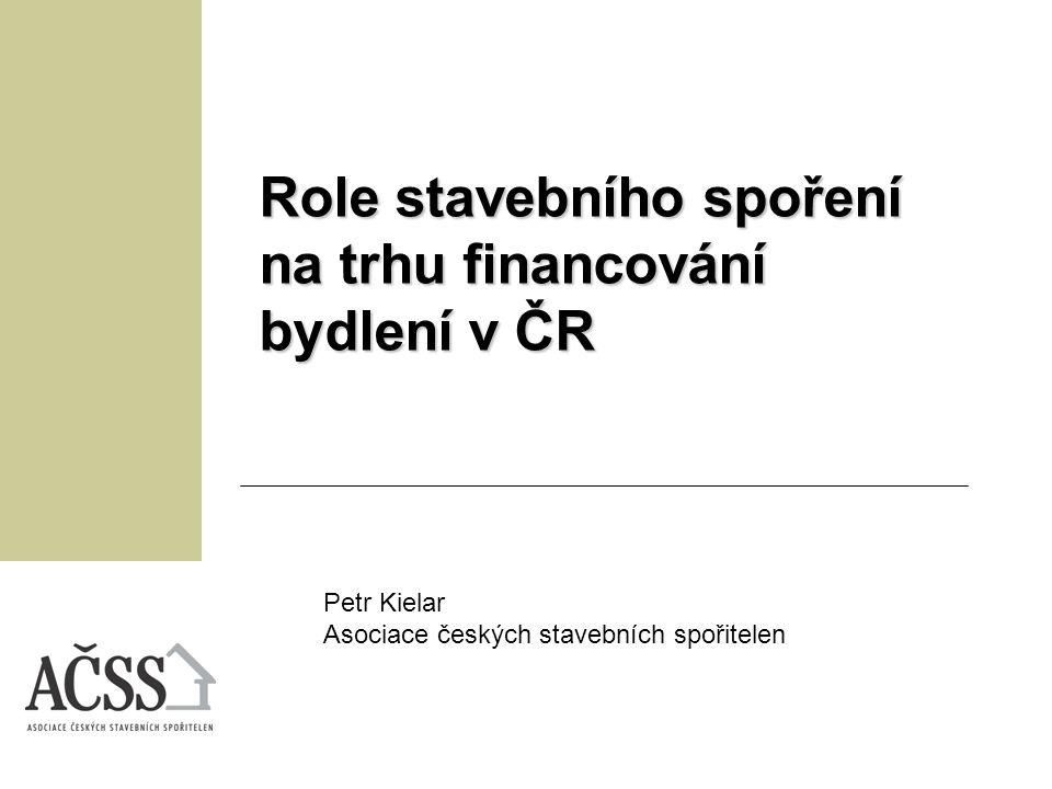 Role stavebního spoření na trhu financování bydlení v ČR