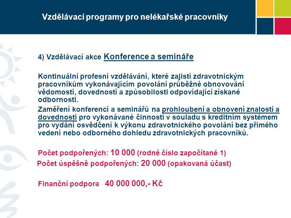 Vzdělávací programy pro nelékařské pracovníky