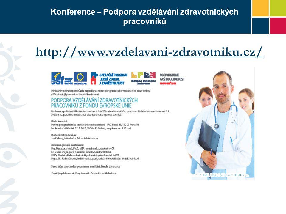Konference – Podpora vzdělávání zdravotnických pracovníků