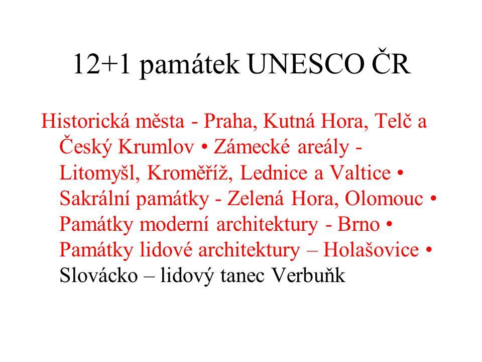 12+1 památek UNESCO ČR