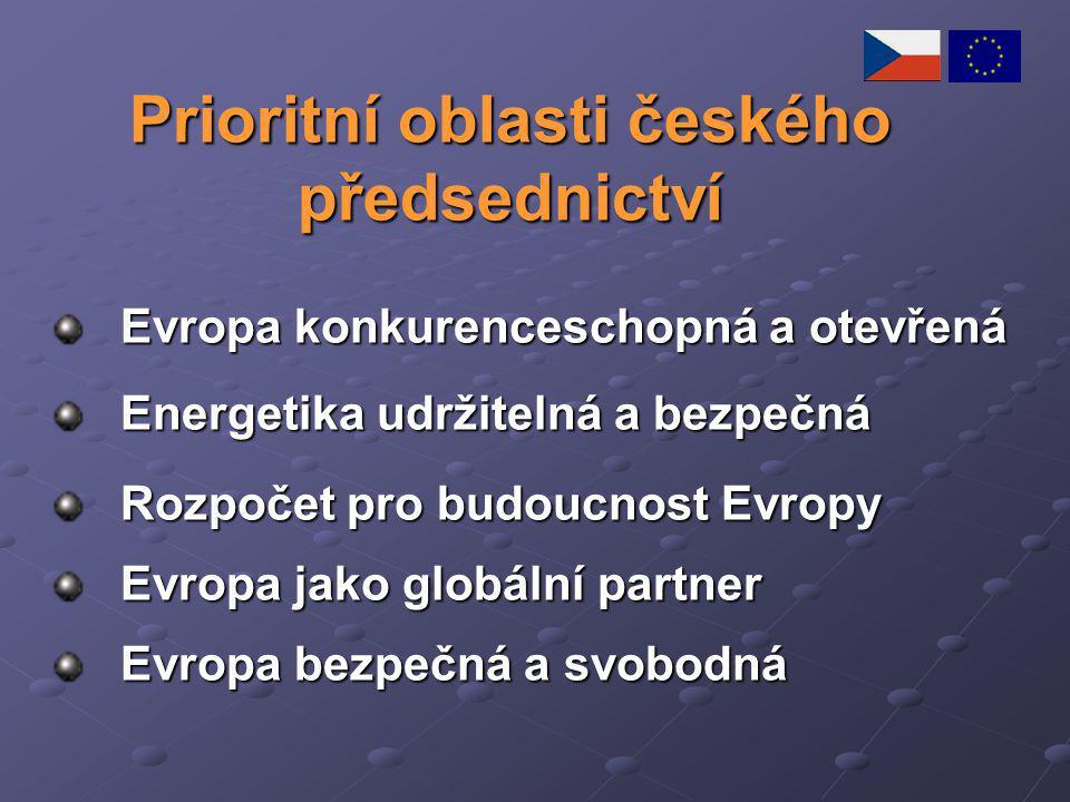 Prioritní oblasti českého předsednictví