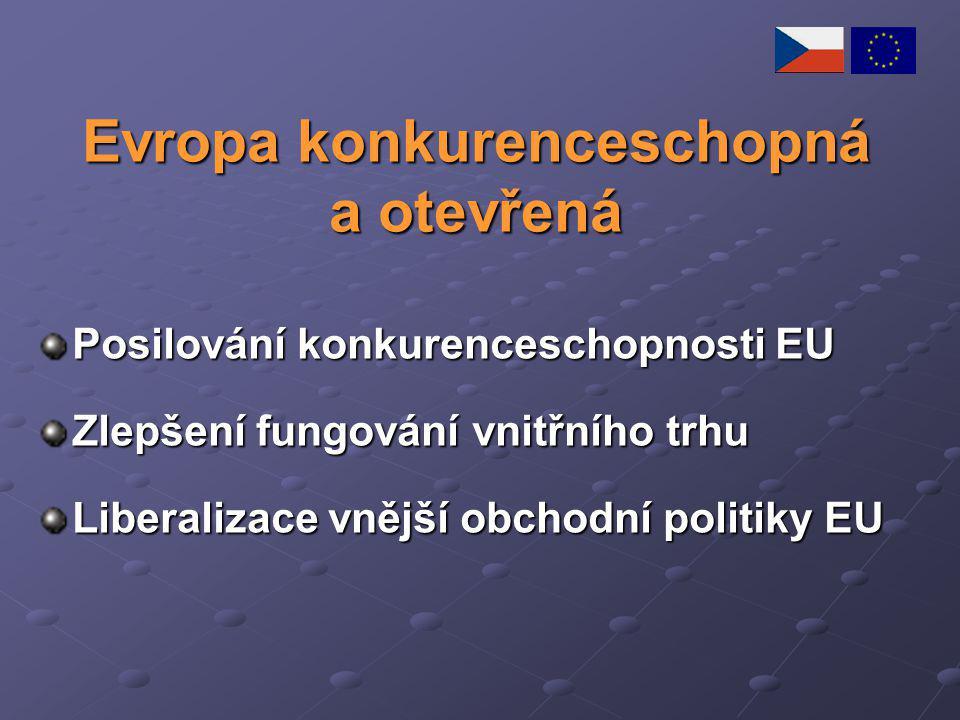 Evropa konkurenceschopná a otevřená