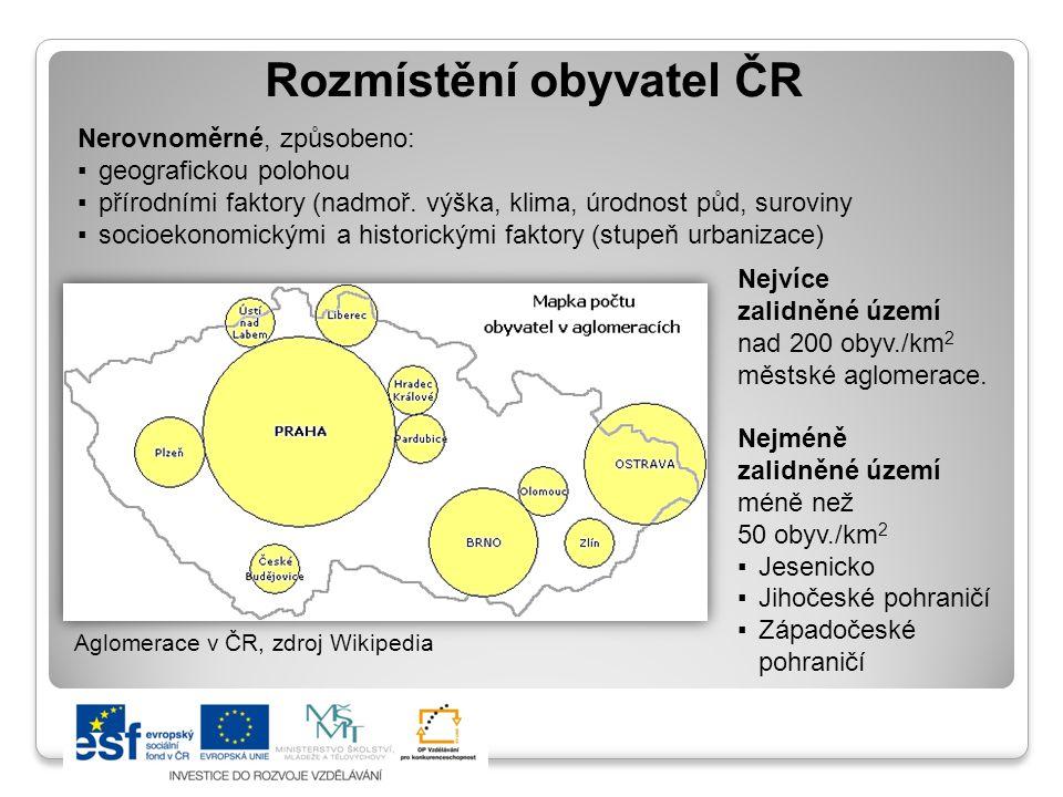 Rozmístění obyvatel ČR