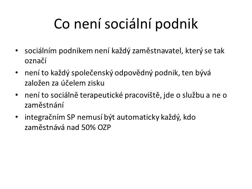 Co není sociální podnik