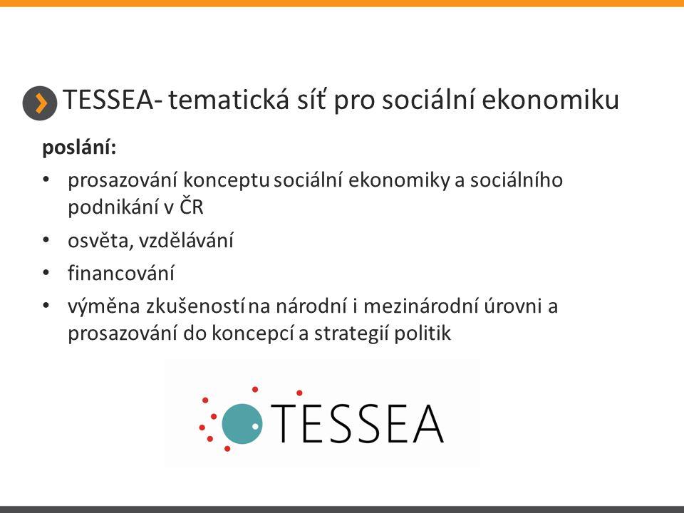 TESSEA- tematická síť pro sociální ekonomiku