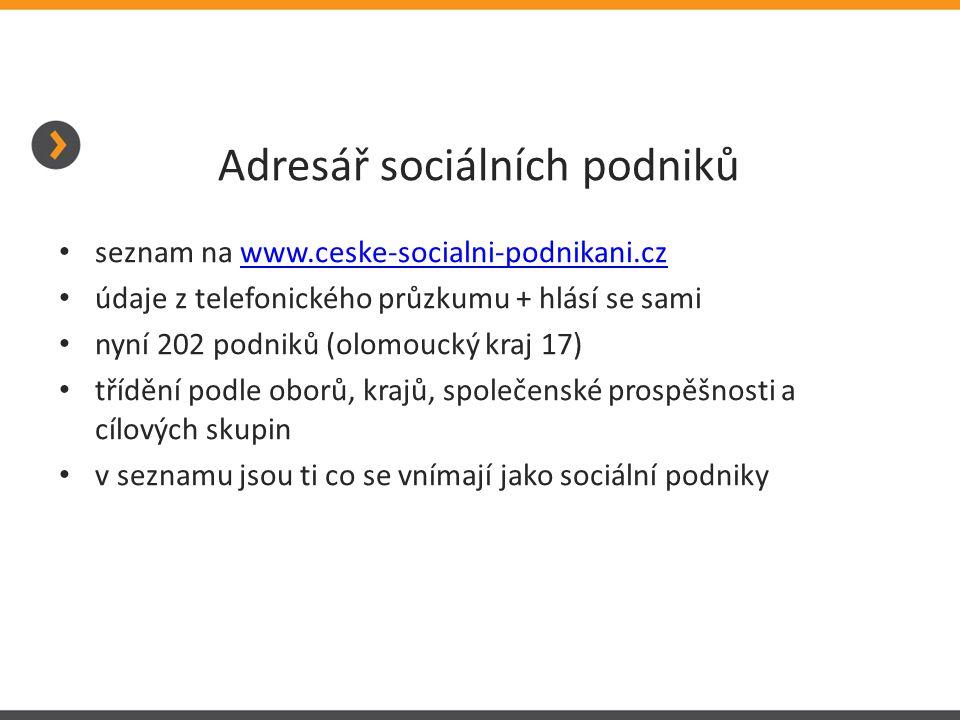 Adresář sociálních podniků