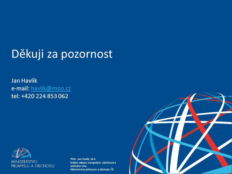 Děkuji za pozornost Jan Havlík e-mail: havlik@mpo