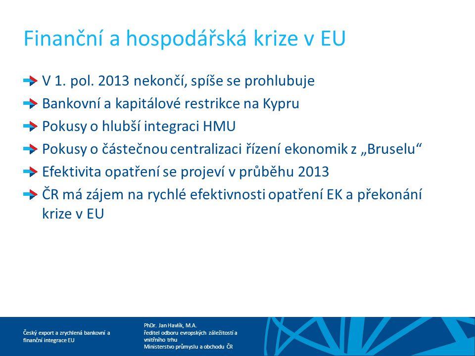 Finanční a hospodářská krize v EU