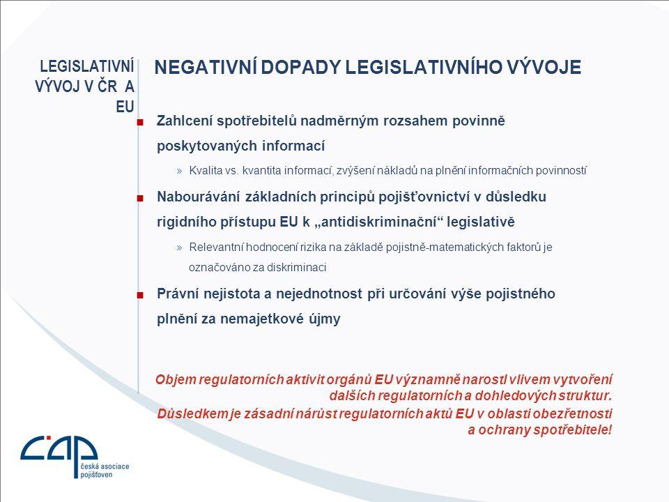 Legislativní vývoj v ČR A EU