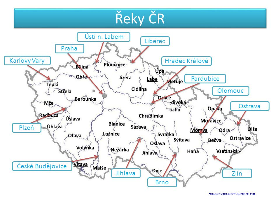 Řeky ČR Ústí n. Labem Liberec Praha Karlovy Vary Hradec Králové