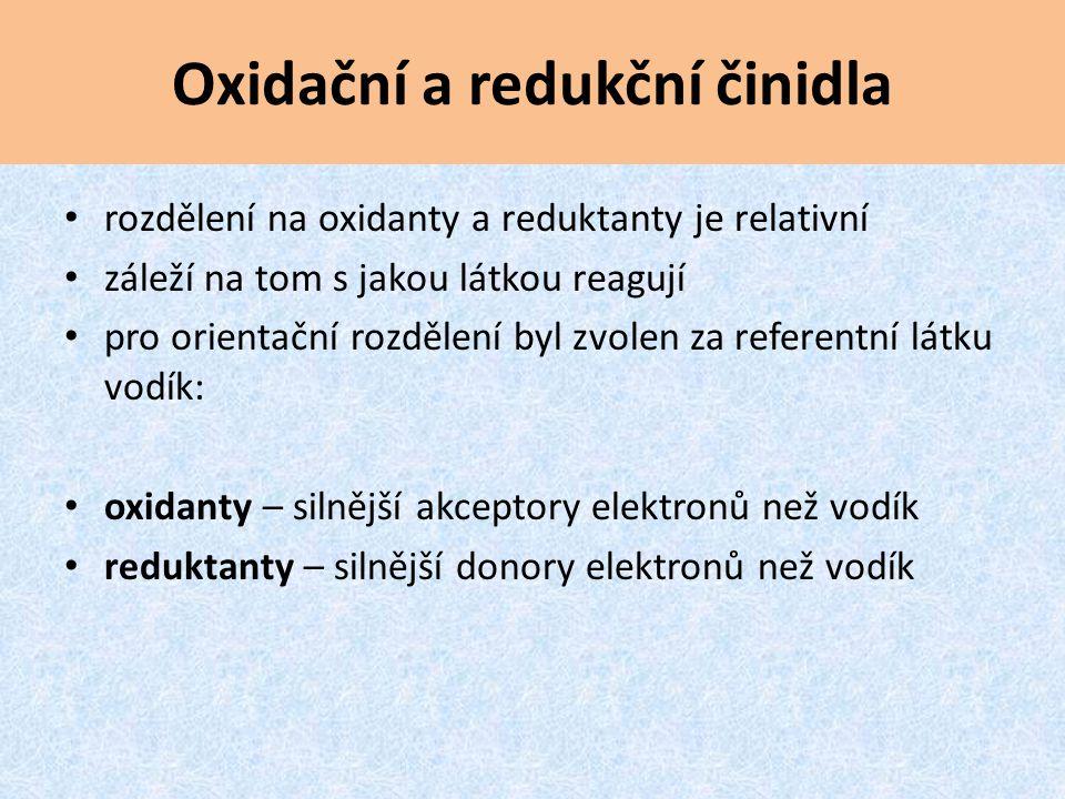 Oxidační a redukční činidla