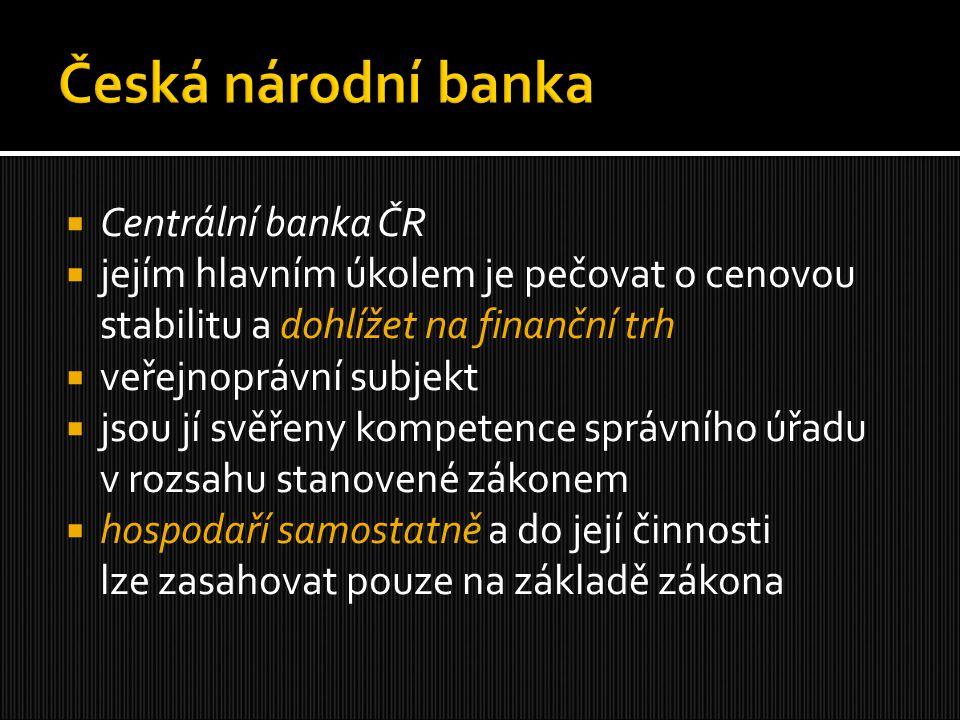 Česká národní banka Centrální banka ČR