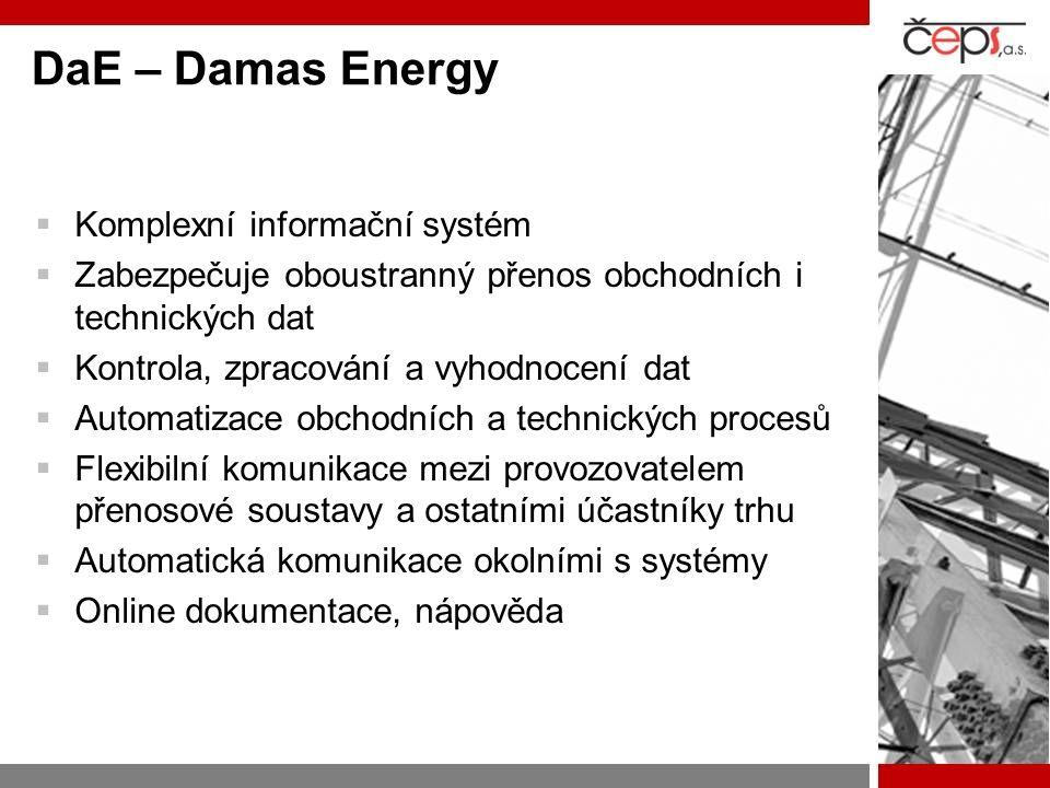 DaE – Damas Energy Komplexní informační systém