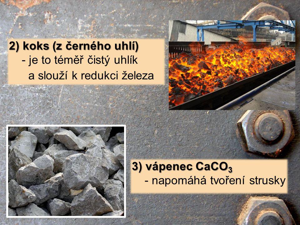 2) koks (z černého uhlí) - je to téměř čistý uhlík.