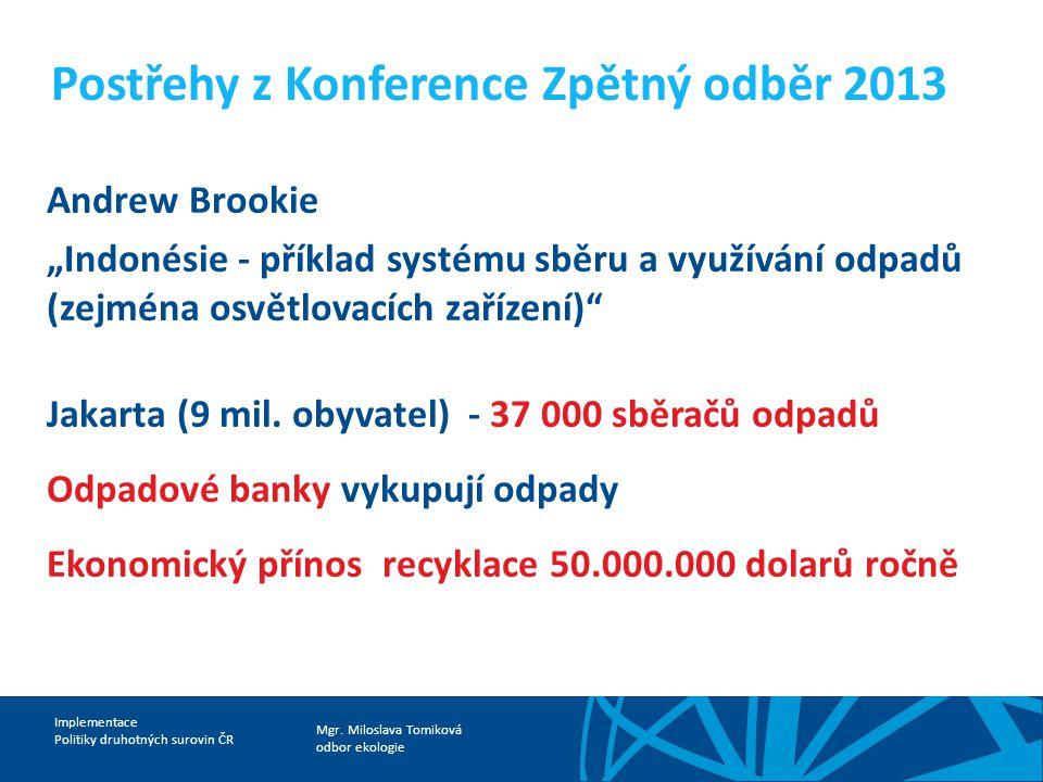 Postřehy z Konference Zpětný odběr 2013