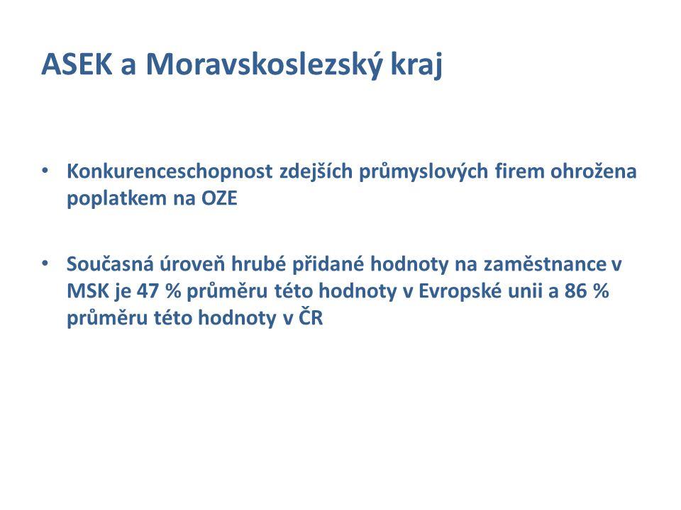 ASEK a Moravskoslezský kraj