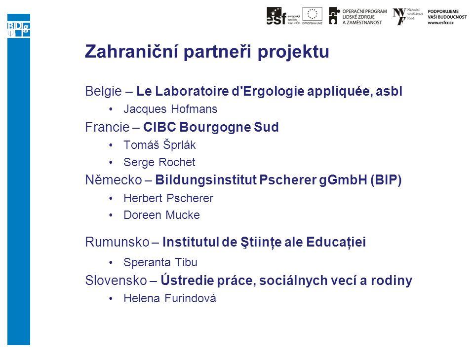 Zahraniční partneři projektu