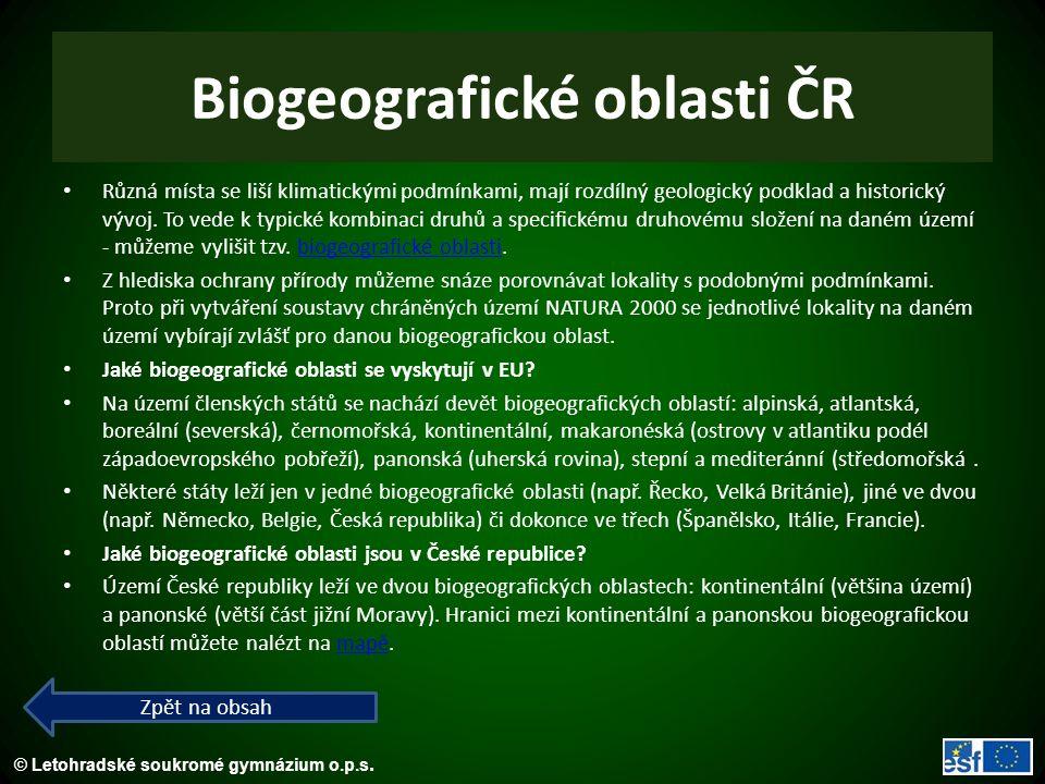Biogeografické oblasti ČR