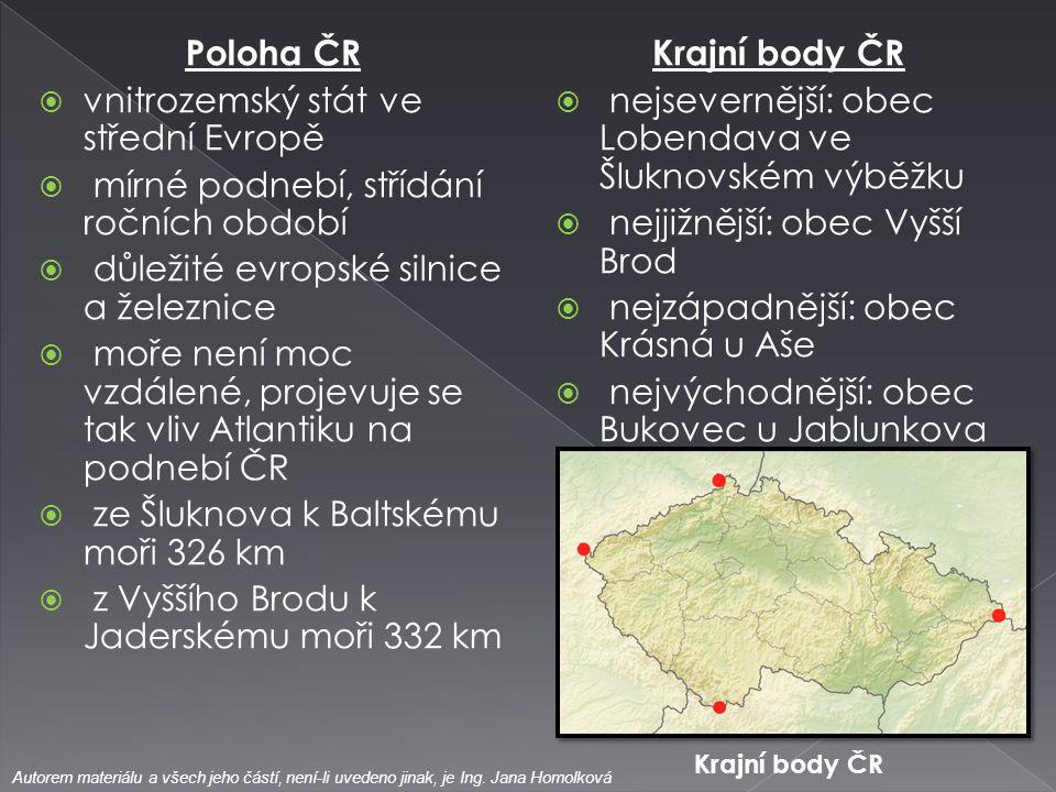 vnitrozemský stát ve střední Evropě